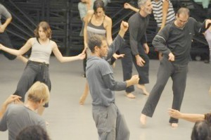Ohad Naharin teaching a gaga session