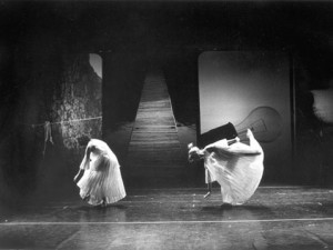 Trisha Brown's Glacial Decoy, photo by Babette Mangolte