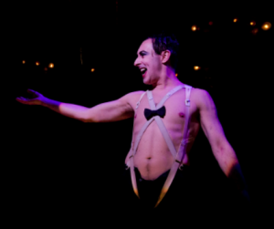 Alan Cumming in Cabaret, photo by Joan Marcus