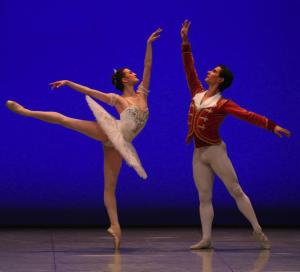 Joy Womack with Mikhail Martinyuk, both of Kremlin Ballet, in Nutcracker