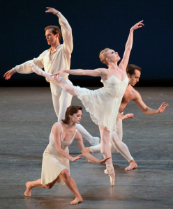 Barber Violin COncerto with Charles Askegard, Megan Fairchild, Sara Mearns, and Jared Angle, photo by Paul Kolnik