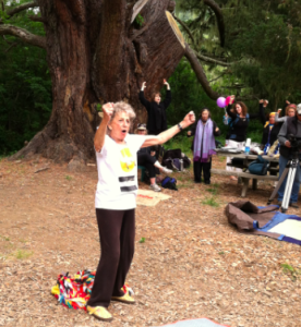 Anna Halprin demonstrating how to announce our purpose