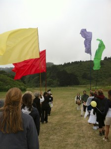 Process with flags