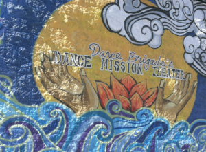 Mural on the front of the Dance Mission Theater building