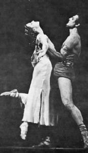 Maya Plisetskaya as Phyrigia and Dmitri Begak as Spartacus in Yacobson's Spartacus