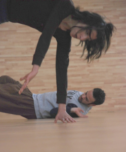 Dublin dance artist John Scott's workshop in the West Bank