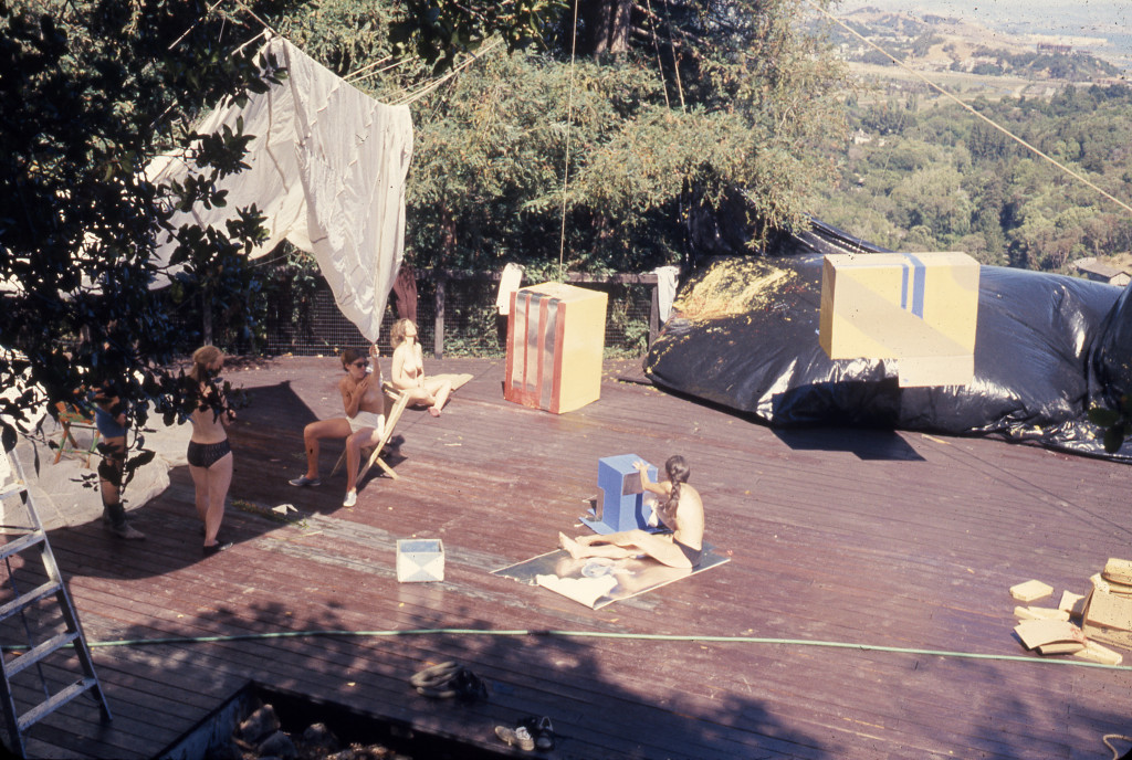 """Building Environments Score,"" Kentfield, CA. Experiments in Environment Workshop, July 13, 1968. Courtesy Lawrence Halprin Collection, The Architectural Archives, University of Pennsylvania"
