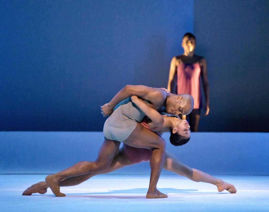 Chroma, by Wayne McGregor, with Ailey dancers Vernard Gilmore, Alicia Graf Mack, and Linda Celeste Sims