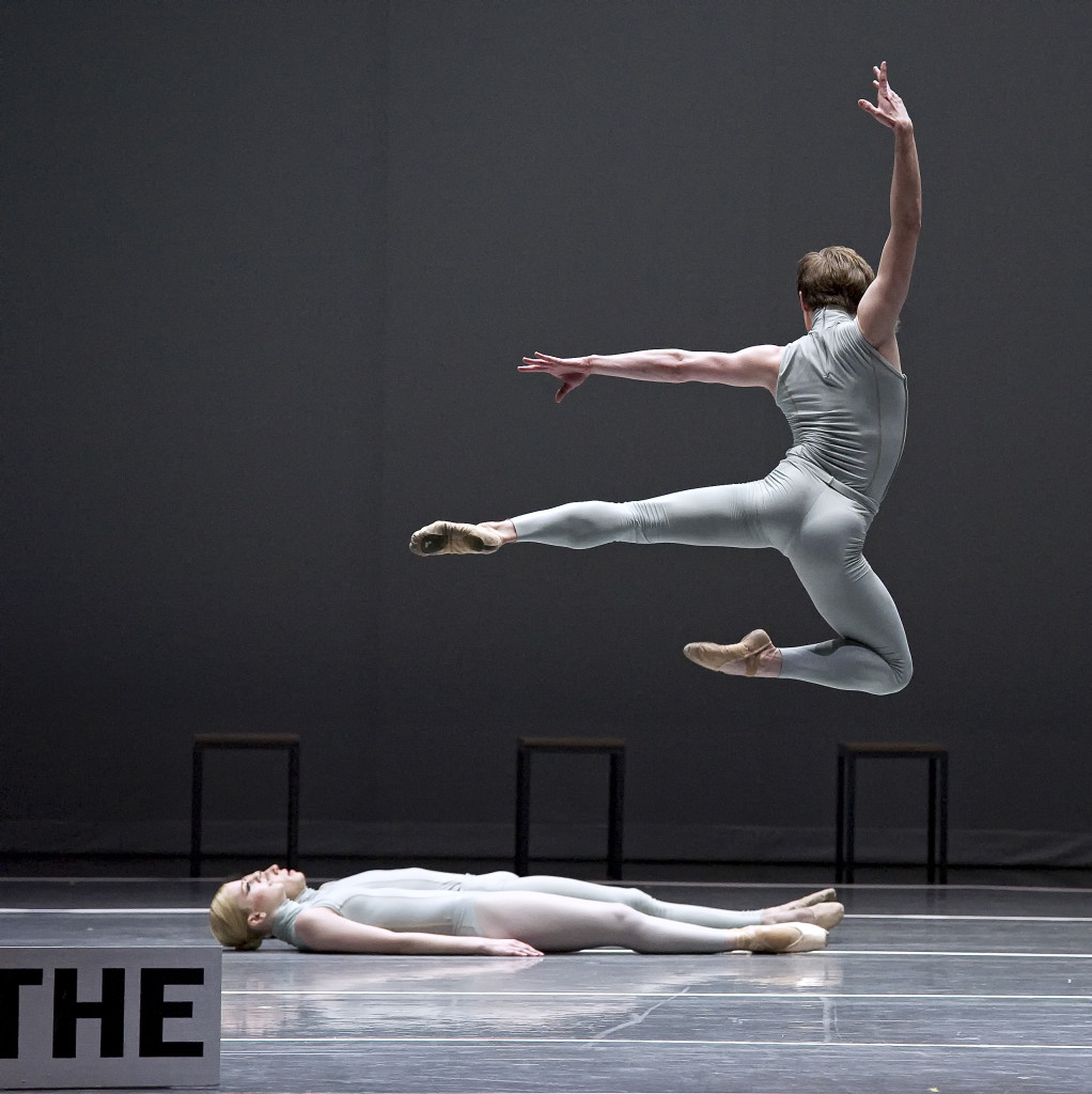 Isaac Akiba of Boston Ballet in Forsythe's The Second Detail, photo by Gene Schiavone