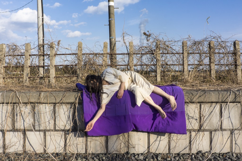 Eiko in Fukushima, Photo © William Johnston