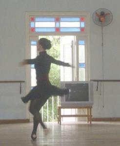 Viengsay Valdes rehearsing Swan Lake in BNC studio