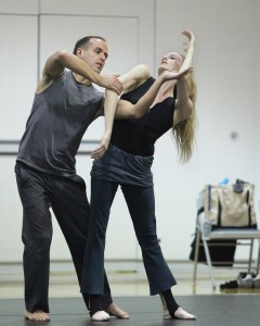 Wendy Whelan and Brian Brooks rehearsing Restless Creature, photo by Erin Baiano