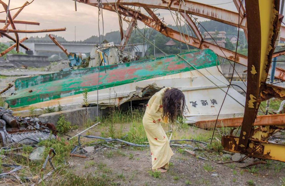 A Body in Fukushima, a series of photos taken by William Johnston of Eiko in Fukushima, a city irradiated and abandoned
