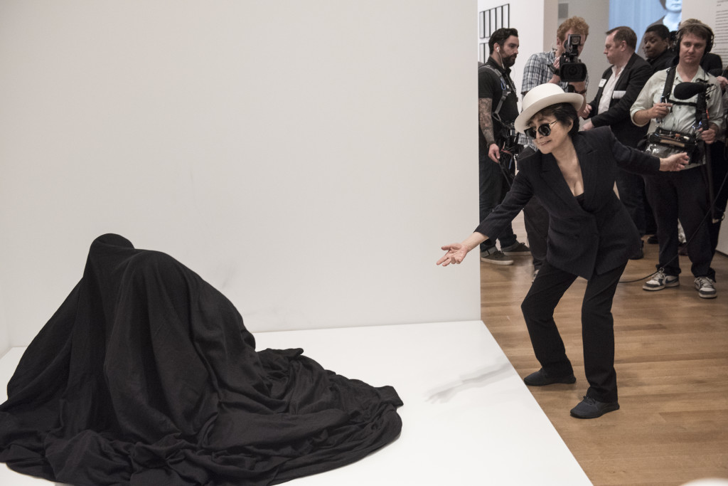 Ono with Bag Piece (1964) At MoMA, photo by Ryan Muir