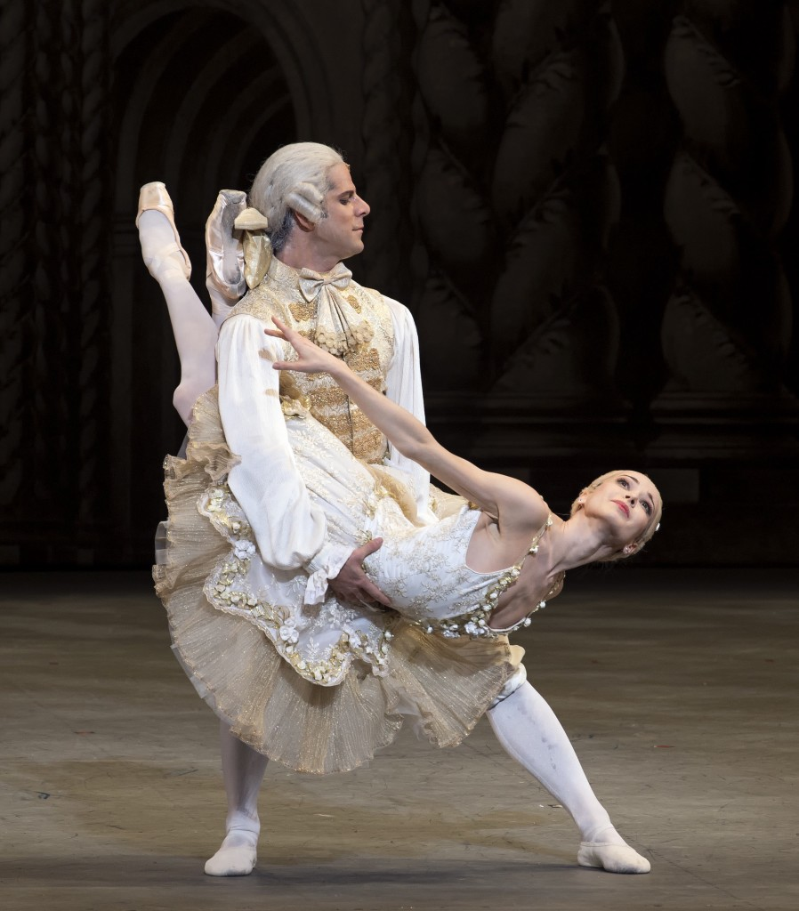 Diana Vishneva as Princess Aurora and Marcelo Gomes  as Prince Désiré. Photo by Gene Schiavone.