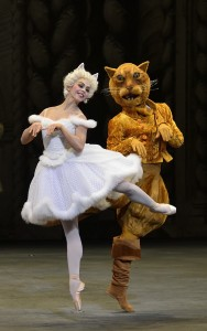 Isadora Loyola and Sean Stewart as the White Cat and Puss-in-Boots, Photo by Gene Schiavone.