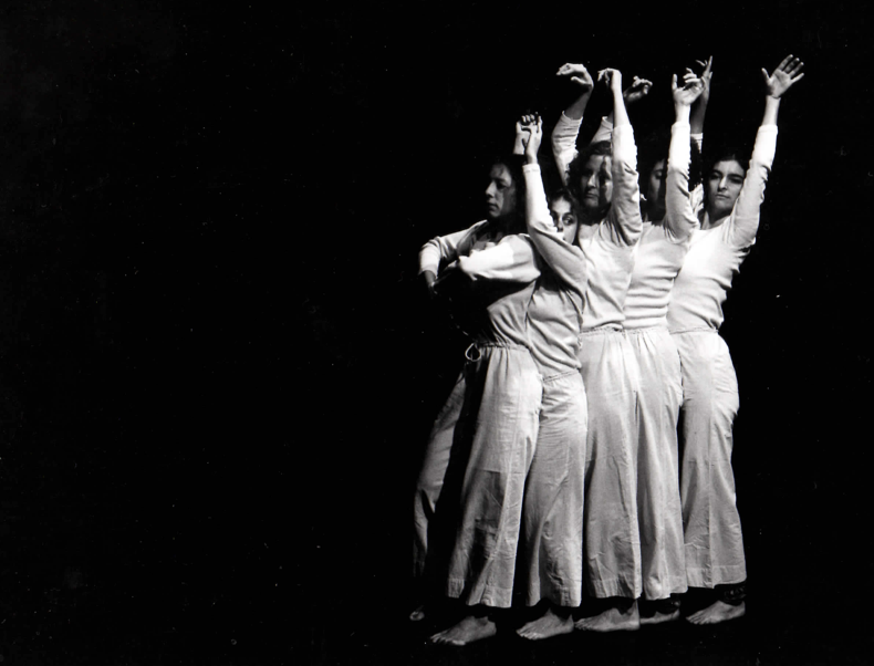 Spanish Dance in the 1970s. I'm the second from the right. Photo @ Babette Mangolte