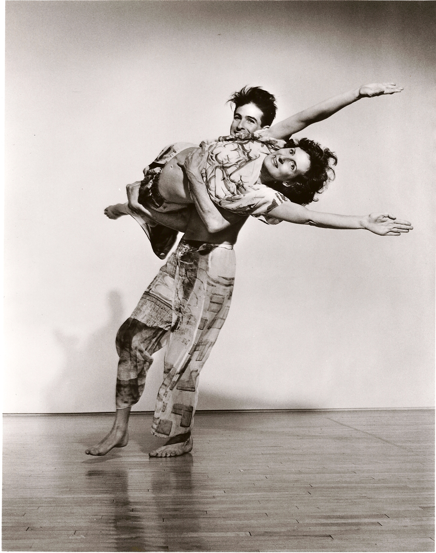 Stephen Petronio and Trisha Brown in Set and Reset, photo © Lois  Greenfield