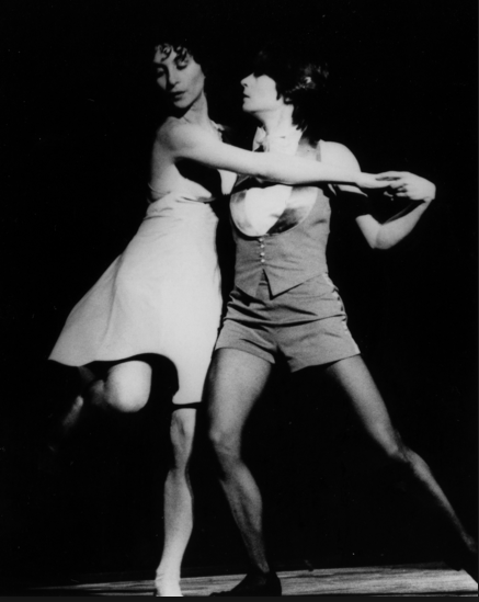 Sara Rudner and Twyla Tharp in The Bix Pieces (1972), photo by Tony Russell