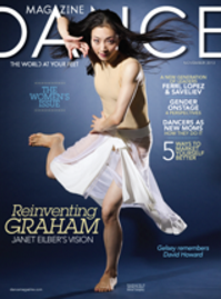 Xiaochuan Xie, Dance Magazine cover, NOvember 2013, photo by Nathan Sayers