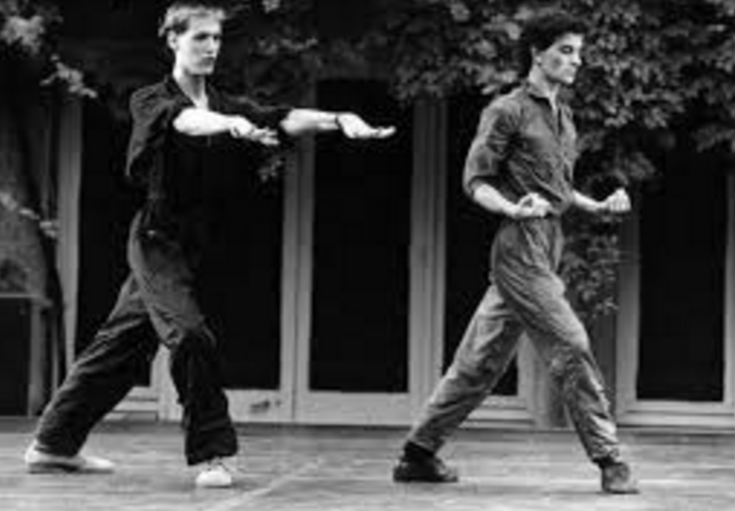 Michael O'Rourke and de Groat in the first Swan Lac, Aix-en-Provence, early 1980s, photo by Christiane Robin