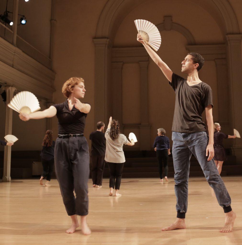 Weeks and Pourzal in Fan Dance